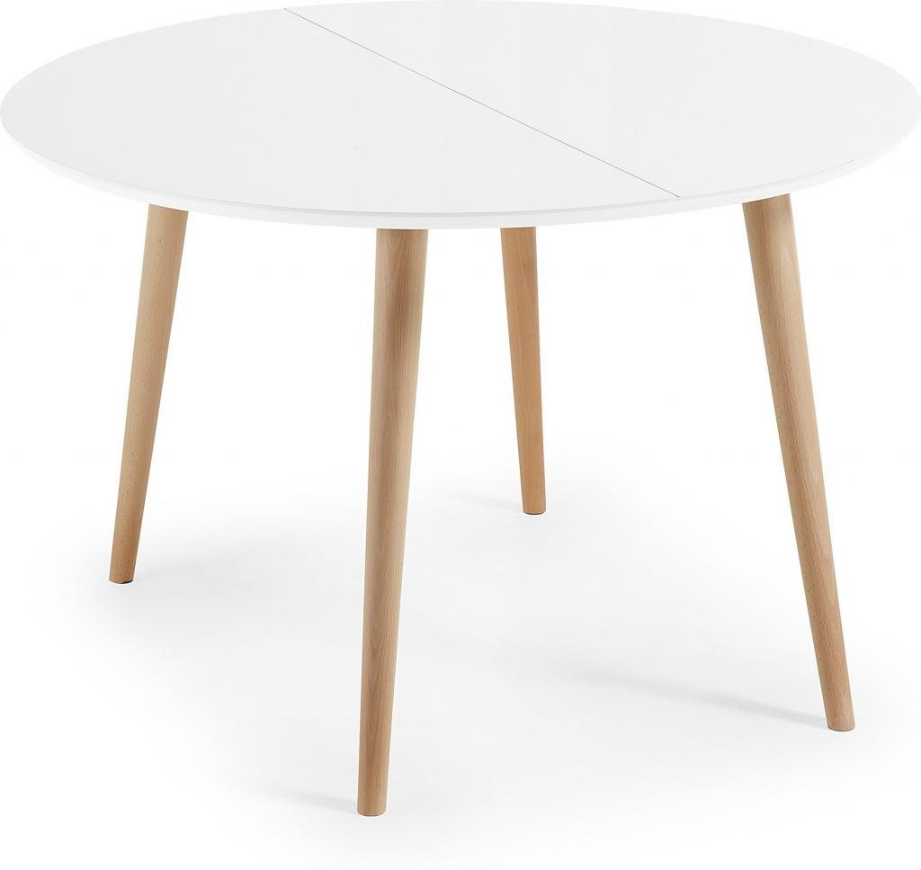 Witte Ronde Tafel Uitschuifbaar.Eettafel Oqui Rond Verlengbaar 120 200 X 120 Cm Wit La Forma